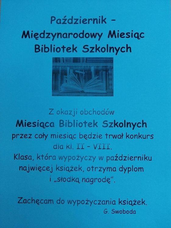 biblioteka ogłoszenia